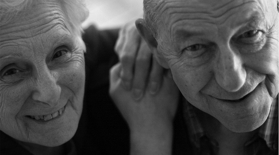 Two seniors smiling together - East Idaho and Jackson Hole in home Senior Care